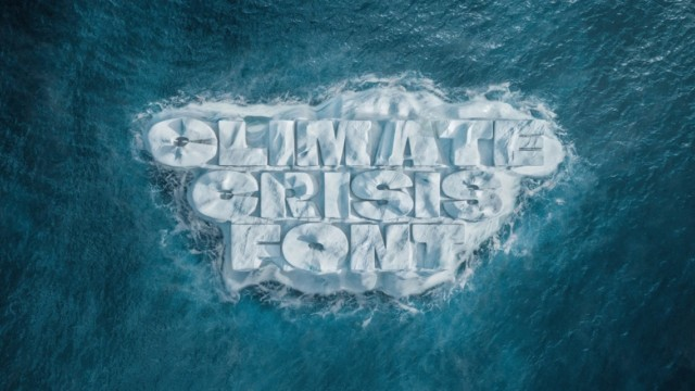 this-'climate-crisis-font'-shrinks-as-the-polar-ice-caps-melt