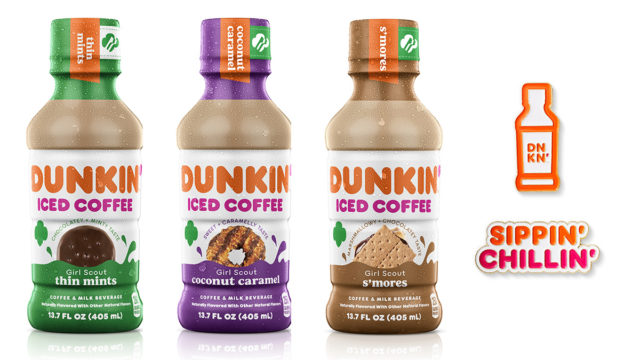 dunkin's-new-bottled-iced-coffees-capture-iconic-girl-scout-cookie-flavors