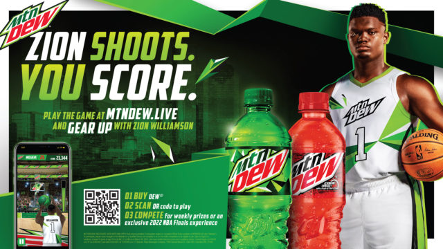 mountain-dew's-new-game-pits-fans-against-nba-all-star-zion-williamson