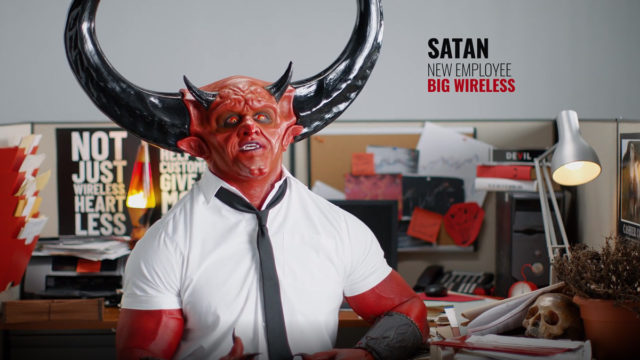 match's-satan-returns-to-wreak-havoc-on-big-wireless-customers-in-new-mint-mobile-ad