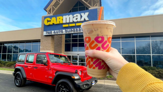 carmax-wants-you-to-take-a-trip-to-dunkin'-during-your-next-test-drive