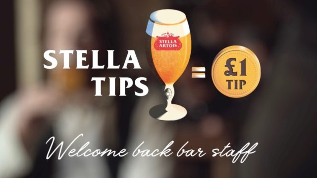 to-celebrate-pubs-reopening,-stella-artois-will-tip-uk-bartenders-for-every-pint-sold