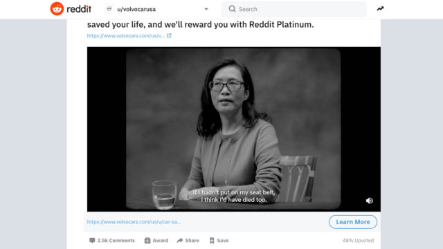volvo's-reddit-campaign-calls-on-community-to-share-terrifying-car-crash-stories
