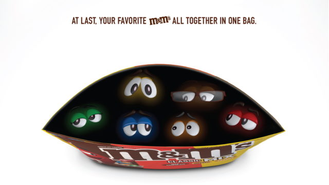 bbdo-new-york's-print-ad-for-m&m's-mix-bags-is-not-your-average-print-ad