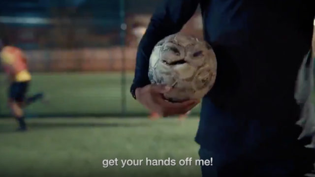 surly-london-soccer-ball-talks-trash-as-nike's-global-'play-new'-campaign-continues